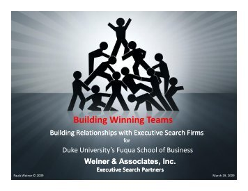 Building Winning Teams - Duke University's Fuqua School of Business