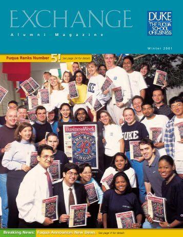 A l u m n i M a g a z i n e - Duke University's Fuqua School of Business