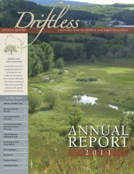 2011 Annual Report (PDF 2.2 MB) - Driftless Area Land Conservancy
