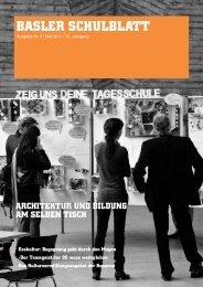 BASLER SCHULBLATT - Netzwerk Bildung & Architektur