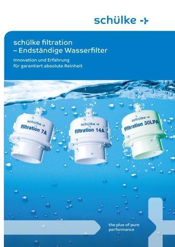 schülke filtration – Endständige Wasserfilter - HygienePartner24.de