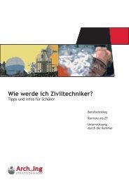 Berufsinformation ZT für SchülerInnen - Kammer der Architekten und ...