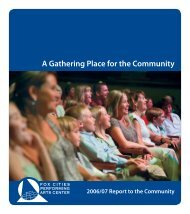 A Gathering Place for the Community - Fox Cities Performing Arts ...