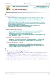 Funktionstraining - MATHEMATIK und TECHNIK mit MATHCAD
