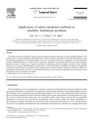 Application of subset simulation methods to reliability benchmark ...