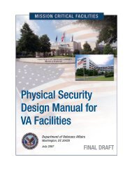 mission critical physical design manual for va facilities - Office of ...