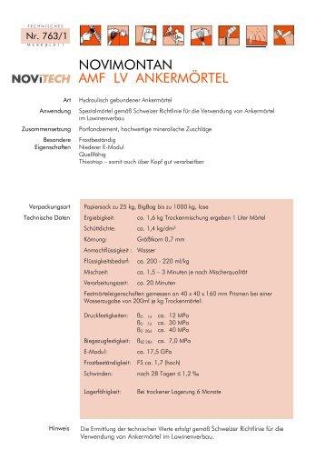 NOVIMONTAN AMF LV - Schretter & CIE
