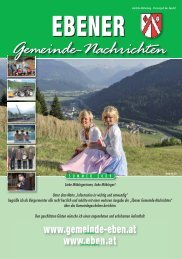 Gemeindezeitung Sommer 2009 - Gemeinde Eben
