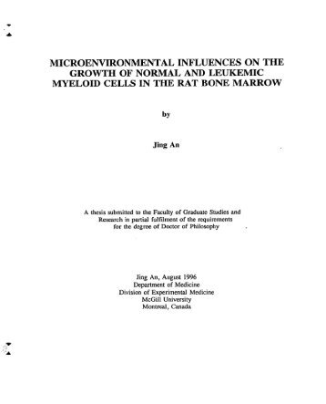MICROENVIRONMENTAL INFLUENCES ON THE