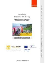 Herta Bacher: Rückschau statt Rückzug - Lebensspuren