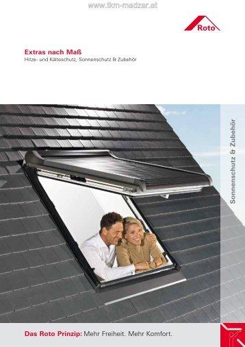 ROTO Sonnenschutz Wohndachfenster - Dekoration ... - TKM Fenster