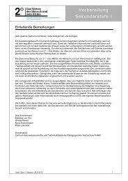 Einstiegsmaterialien Sek I - GLOBE