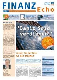 Lassen Sie Ihr Dach für sich arbeiten - Volksbank Reutlingen