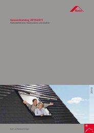 Gesamtkatalog 2010/2011 2 0 1 0 - Dach- und Solartechnologie - Roto