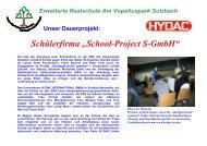 "Schülerfirma ""School-Project S-GmbH"""