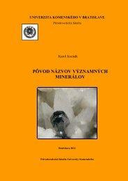 Publikácia v PDF formáte - Prírodovedecká fakulta - Univerzita ...