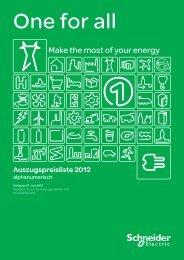 Preisheft zu Auszugspreisliste 2011 gültig ab ... - Schneider Electric