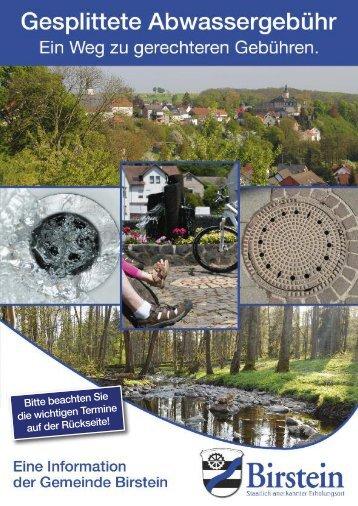 Gesplittete Abwassergebühr - Gemeinde Birstein