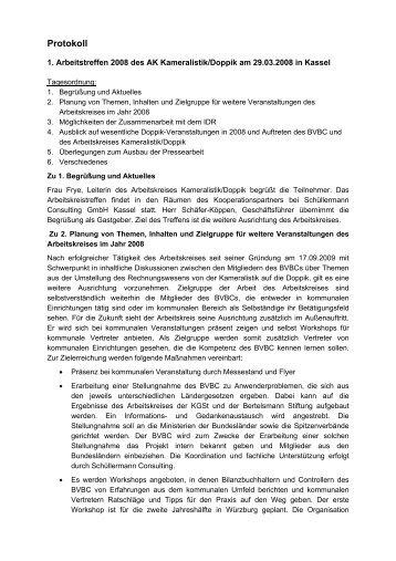 Protokoll Kameralistik Doppik 29.03.08 - Bibu