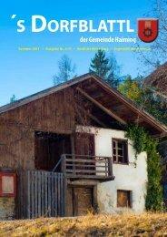 ´s Dorfblattl - Gemeinde Haiming - Land Tirol
