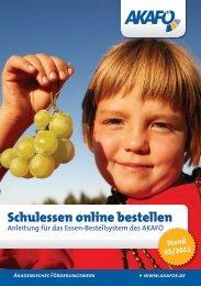 Schulessen online bestellen - AkaFö