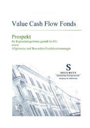 Value Cash Flow Fonds - Security KAG