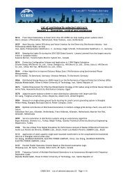 List of preliminarily accepted abstracts - CIRED 2011