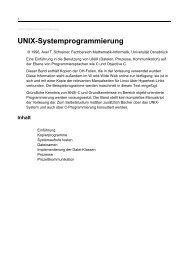 UNIX-Systemprogrammierung