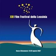 2007 Film Festival Catalogo - Film Festival della Lessinia