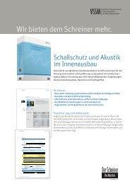 Schallschutz und Akustik im Innenausbau - VSSM