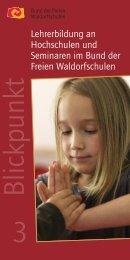 Blickpunkt 3 - Bund der Freien Waldorfschulen