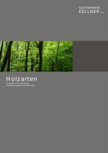 Holzarten - Schreinerei Kellner