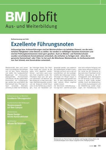 Exzellente Führungsnoten - Meisterschule Schreiner München