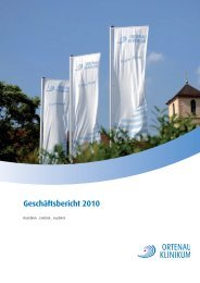 Geschäftsbericht 2010 - Ortenau Klinikum
