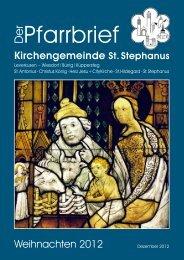 Pfarrbrief - St. Stephanus