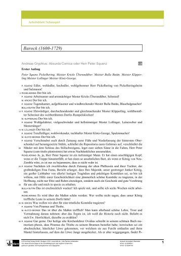 Arbeitsblatt Jean Paul: Rede des toten Christus ... - Ernst Klett Verlag