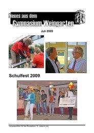 Ausgabe 3/2009 (Juli) - Gymnasium Weingarten
