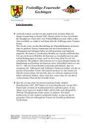 FFW - Bericht des Kommandanten - Freiwillige Feuerwehr Gechingen