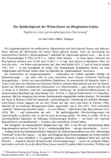 Das Späthochglazial der Würm-Eiszeit im Illergletscher ... - quartaer.eu