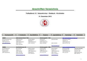 Anschriften Verzeichnis - Kreis 12