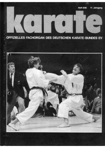 DKB-Fachorgan Nr. 6 - Chronik des Karate