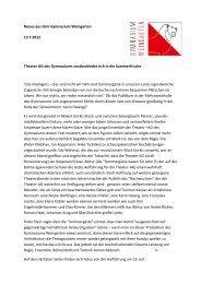 Neues aus dem Gymnasium Weingarten 13.7.2012 Theater-AG des ...