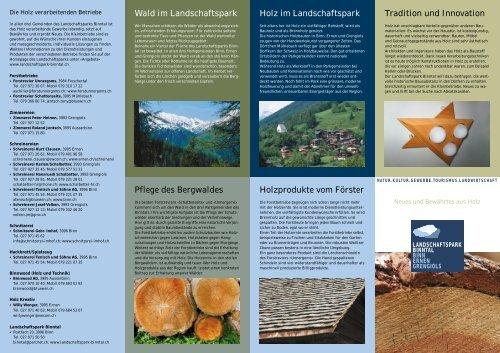 Wald im Landschaftspark Pflege des Bergwaldes Holz im ...