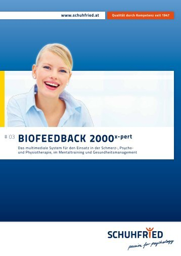 Biofeedback 2000 x-pert - SCHUHFRIED Gmbh