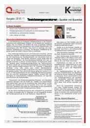 Testautomatisierung mit Testdatengeneratoren - Software Quality Lab
