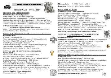 Pfarrbrief Nr_2011_45_46 - Pfarrei Arnschwang