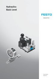 Hydraulics, Basic Level (Textbook) - Festo Didactic