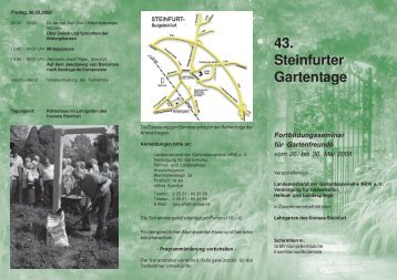 43. Steinfurter Gartentage - Bundesarbeitsgemeinschaft ...