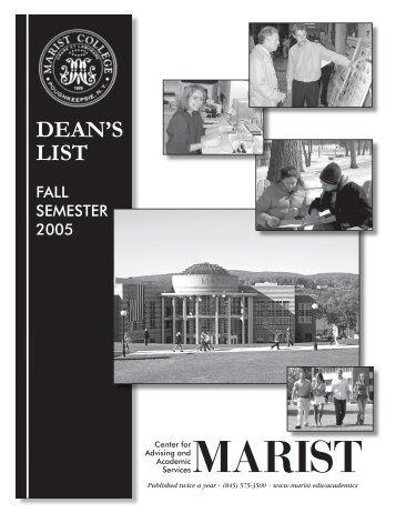 DEAN'S LIST - Marist College