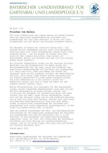 PDF Download - Bayerischer Landesverband für Gartenbau und ...